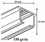 Forrest KS-rails wit op maat voor u gemaakt centimeter