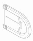 Luxaflex standaard rolgordijn afdekkap montagesteun 1 X
