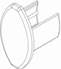 Luxaflex rolgordijn afdekdopje onderlat 1 X