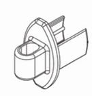 Luxaflex rolgordijn afdekdopje onderlat voor spandraad 1 X