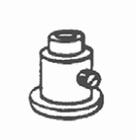 Luxaflex rolgordijn spankabel fixeerring 1 X