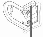 Luxaflex rolgordijn spandraadklem voor montagesteun 1 X