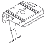 Luxaflex monocomando plisse / duette steun