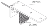 Luxaflex plisse / duette voorsprongsteun afs. 70 mm