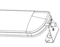 Luxaflex fixeerbeugel 50mm odd